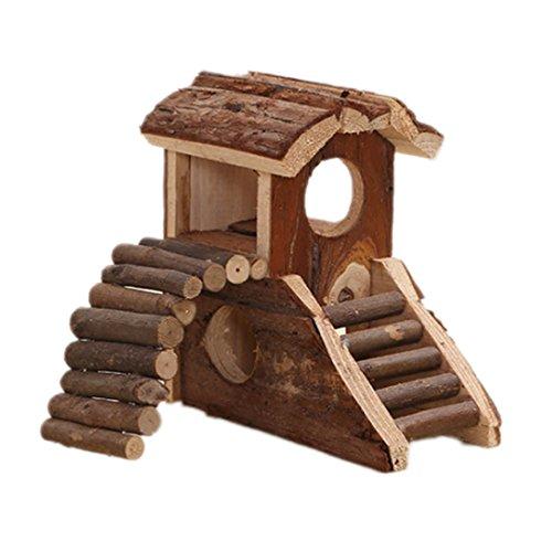 Maison du Hamster Netteté Cabane en bois naturel pour petit animal Maison Cachette Living Habitat