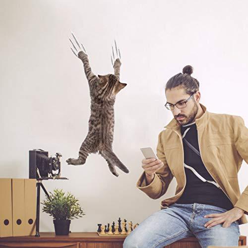 Wandsticker 3D Kinderzimmer Lochansicht Lebendige Katzen 3D Wandaufkleber Bad Wc Wohnzimmer Küche Dekoration Tier Vinyl Aufkleber Kunst Aufkleber Poster