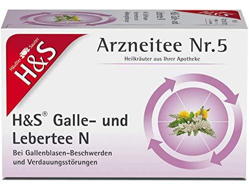 H&S Galle- und Lebertee Arzneitee Nr. 5, 20 St. Filterbeutel
