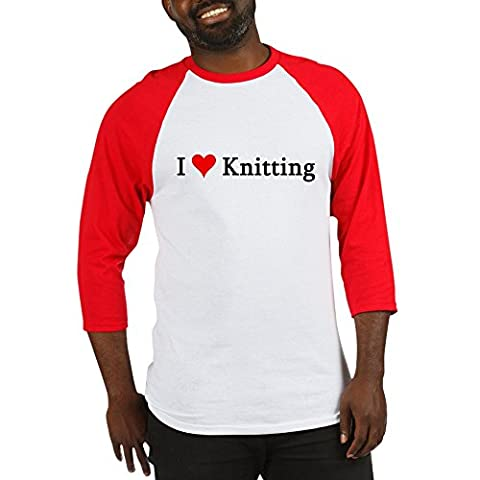 CafePress - I Love Knitting - Cotton Baseball Jersey, 3/4 Raglan Sleeve Shirt