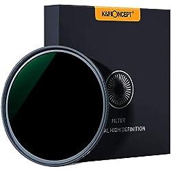 K&F Concept ND1000 77mm Nano-X MRC Filter Gris Neutre HD Super Mince Multicouches Haute-Transmittance pour Canon Nikon