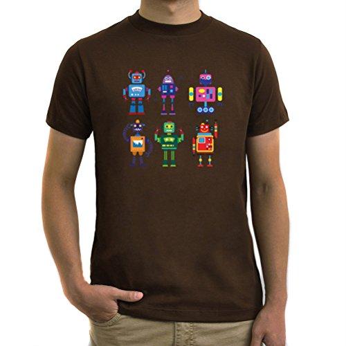 Maglietta Cool robots Marrone