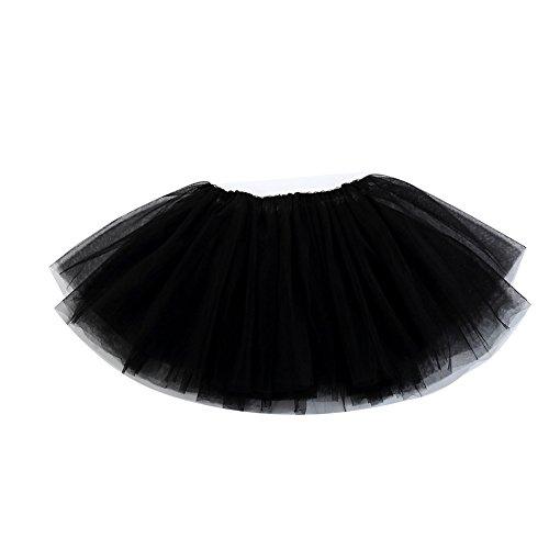 ädchen Ballettrock Tanzkleid Tüllrock - in verschiedenen Farben, Schwarz, Gr.122/128(Herstellgröße: 130) (Fisher Mädchen Kostüm)