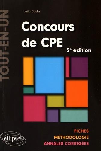 Concours de CPE Tout-en-un Fiches Méthodologie Annales Corrigées par Laïla Sada