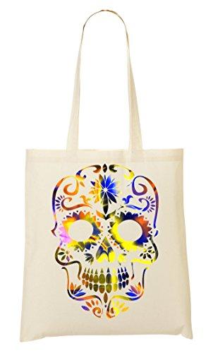 Beautiful Death Tripy Acid Skull Bolso De Mano Bolsa De La Compra