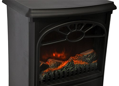 Electric Heating Iron Effect ~ Futura electric fire free standing w black