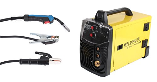 Preisvergleich Produktbild MIG-MAG Schutzgasschweißgerät/Schweißinverter ME 200eco von WELDINGER 200A auch Elektrodenschweißen möglich