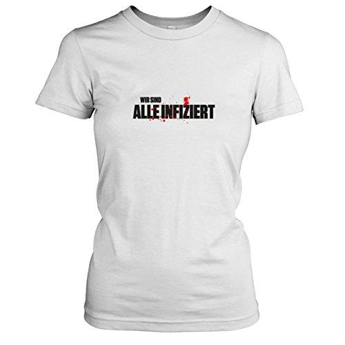 Apocalypse Kostüm Hunter Zombie - TEXLAB - Alle infiziert - Damen T-Shirt, Größe XL, weiß