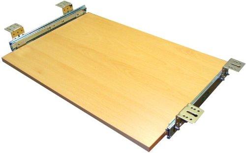 EisenRon Tastaturauszug in Buche Dekor und 4 Größen bis 30kg Schreibtischauszug neu 60x30cm - Standart Höhe