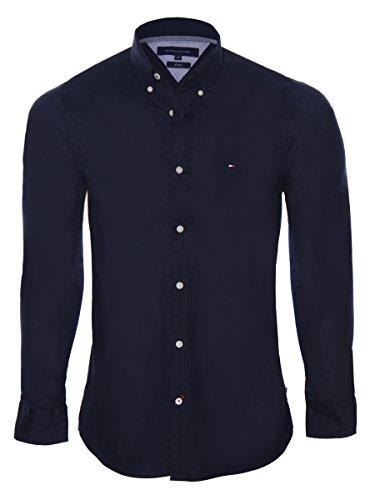 tommy-hilfiger-herren-hemd-stretch-poplin-sf2-classics-blau-large