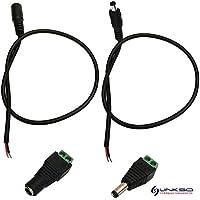LinkSquare DC Macho / Hembra Adaptador de Cable de Extensión de Cable con DC Macho y Hembra Adaptador de Enchufe de Tapón Hueco para Tira de RGB / Solo Color (Monocromo) SMD LED (CC Enchufe Hembra)