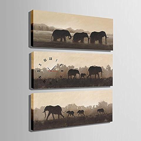 ZRF-Uhr-Malerei Migrieren von Elefanten dekorative Malerei Wohnzimmer Schlafzimmer Kinderzimmer Zimmer
