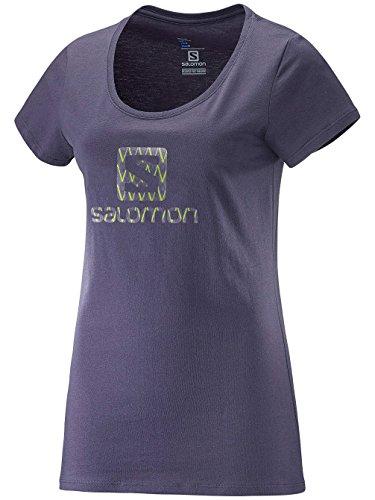 Salomon Mc rp Halogo Ss Tee W - Maglietta manica corta, da Donna, colore Grigio, (Rp Tee)