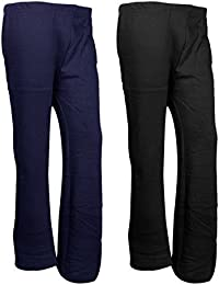 IndiWeaves Womens Warm Woolen Full Length Palazo Pants For Winters_Free Size_Navy Blue/Black