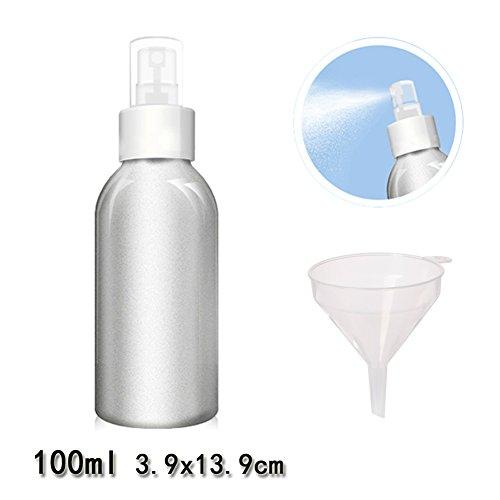 Beauty360 Spray Flasche für Parfüm Toner Aluminium Hochwertige Lagerung Reisesets Bulk Kosmetik Gläser Aluminium Körper und PP Pumpe (100ml) (Farbige Kunststoff-taschen)