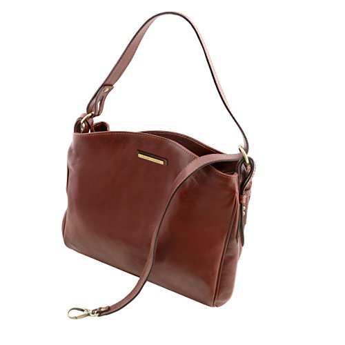 Tuscany Leather Sara - Borsa a tracolla in pelle Rosso Borse donna a tracolla Testa di Moro