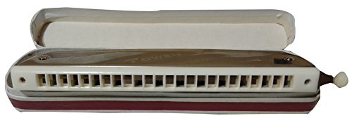 Dhingra Musicals - Tower Chromatic Mouth Organ 48 Holes (Silver)/ Harmonica (C Tone)  available at amazon for Rs.550