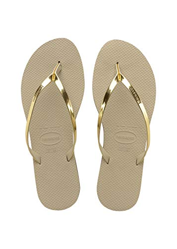 Havaianas You Metallic, Infradito Donna, ((Sand Grey/Light Golden), 39/40 EU