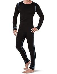 CFLEX - Set de ropa térmica y para esquí para hombre - Camiseta y pantalón - Tecnología POLARDY - Calidad de celodoro - Disponible en varios colores y tallas de la M a la XXL