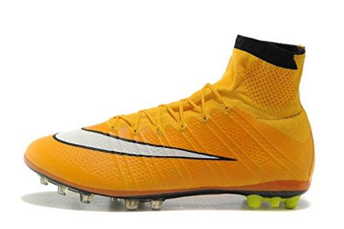 Herren Gelb Mercurial X Superfly IV AG Hi Top Fußball Schuhe Fußball Stiefel, Herren, gelb, UK7.5/EUR41