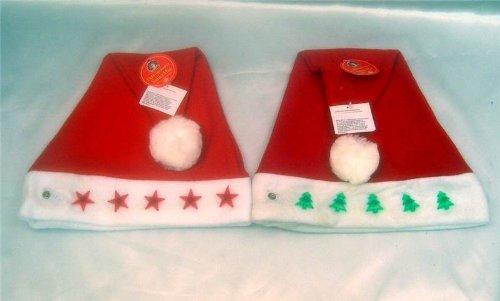 LIGHT UP SANTA HAT - EACH - ASSORTED (Light Santa Hat Up)