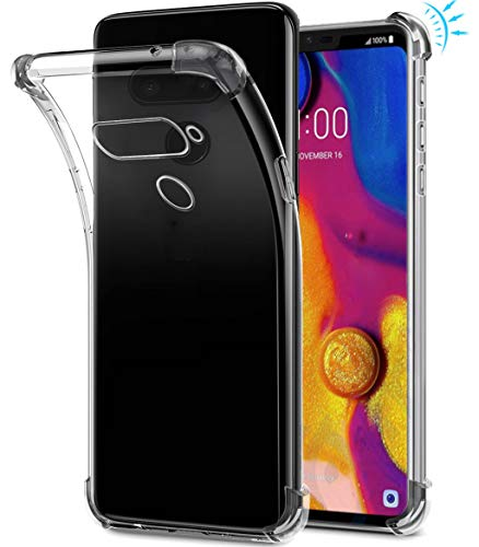 LG V40Fall, sucnakp TPU Stoßdämpfung Technologie erhöhter Um Hülle Schutzhülle Case Cover für LG V40, TPU Clear