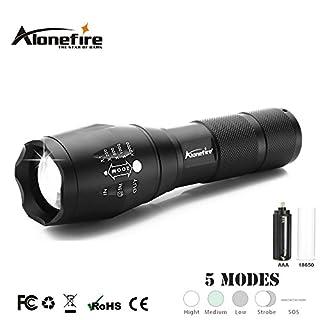 Taschenlampe LED–5Modi–Zone von Beleuchtung verstellbar–Starke Leistung