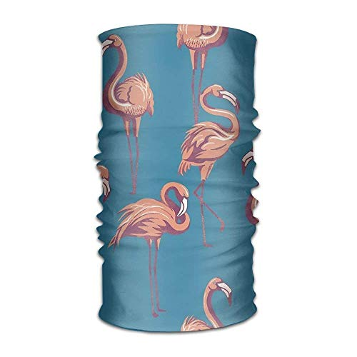 Flamingos Headwear For Men And Women-Yoga Sports Travel Workout Wide Headbands,Neck Gaiter,Bandana,Helmet Liner,Balaclava,Hair Turban,Scarf