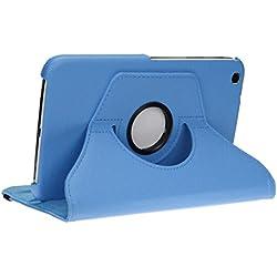 doupi Rotatif Housse pour Samsung Galaxy Tab 3 (8 Pouces), Deluxe 360 Degrés Smart Coque de Protection Simili Cuir Coque Cover et Case, Bleu