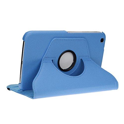 doupi Deluxe Custodia per Samsung Galaxy Tab 3 (8 pollici), 360 Gradi Rotable Protezione con Smart Funzione Sleep/Wake Up Etui Stare in Piedi Protettiva, Blue