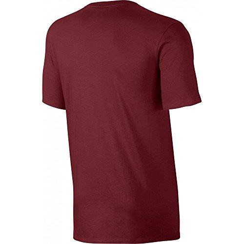 Nike Herren Club Embroidered Futura T-Shirt Rot / Schwarz