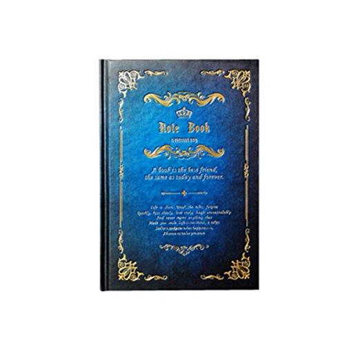 Tinksky Fester Einband Tagebuch Notizbuch Journal Editor magische Stil Notebook (blau)