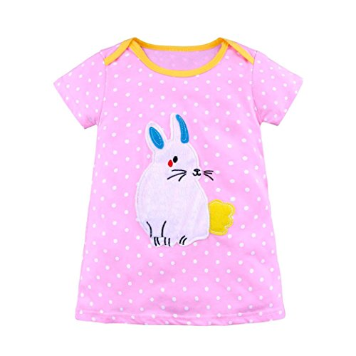 For 1-7 Years Old Kids Dress,Interent 2018 Summer Toddler Infant Baby Kids Girls Cartoon Dresses Striped Animals Outfits Clothes