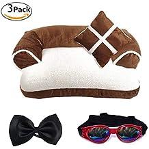 LA VIE Cama Sofá para Mascotas Lavable Extraíble con Almohada Colchoneta Cama Nido Suave Acogedor para