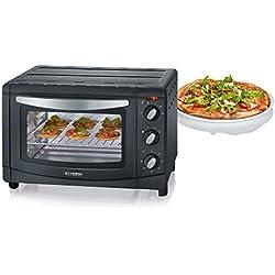 SEVERIN TO 2060 Horno Tostador incluye Rejilla grill y Bandeja de horno, 1.500 W, 20 L, color plateado y negro
