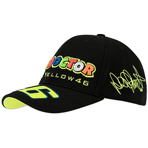 VR46 Casquette The Doctor 46 Messieurs Rossi Men, Noir, One Size