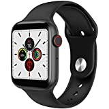 Ok T55 Plus Bluetooth Smartwatch with Crown Working & Calling Feature Smart Watch for Android iOS (Black)