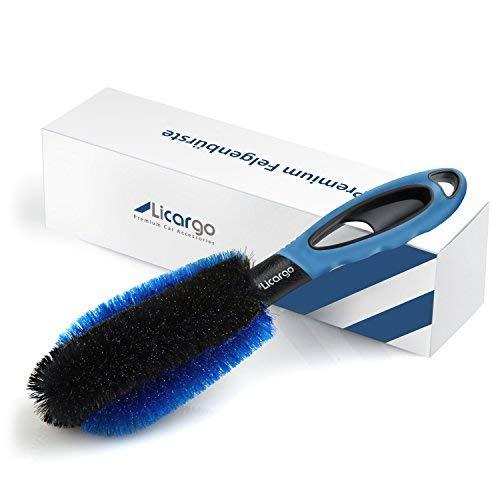 Licargo ® Premium Felgenbürste zur schonenden und effektiven Reinigung hochwertiger Felgen - Felgen Bürste Alufelgen - Felgenreinigungsbürste -