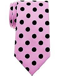 Retreez Chic Vintage à pois 8cm de cravate en microfibre tissé Cravate