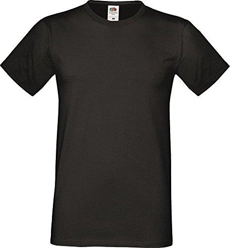 Fruit of the Loom Sofspun T-Shirt Soft Feel Slim Fit s-sleeve Crew Neck Top Rosa - Fuchsia