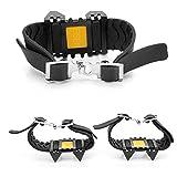 heling896 Chaussures Anti-dérapantes 1 Paire pour 4 Dents, Griffes de Glace, Crampons Simples Portables épaisses à Quatre Dents
