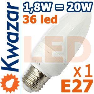 Super Led Lampe 36p E27 18w Ersetzt 20w Birne Warmweiss 180lm Hohe Qualitt von Kwazar