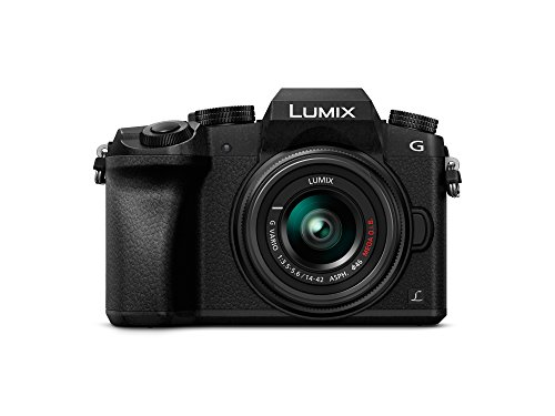 Panasonic DMC-G7 -  Kit cámara digital de 16 Mp y objetivo Standard Zoom LUMIX G VARIO 14-42 mm, negro