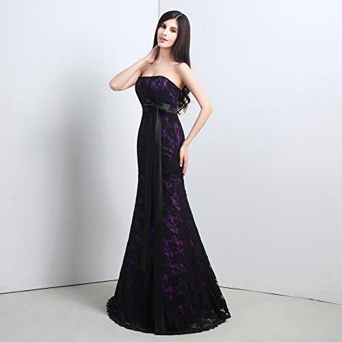 Bridal_Mall -  Vestito  - Senza spalline - Senza maniche  - Donna Nero