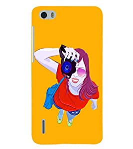 PRINTSHOPPII FASHION GIRL Back Case Cover for Huawei Honor 6