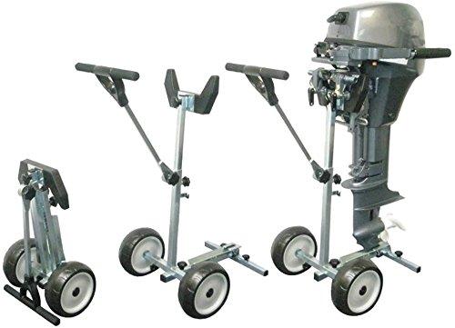 ROOTEQ Außenborder Trolley Bootsmotor bis 20PS /60kg Boot Transportwagen Motorhalter Motorwagen Motortrolley