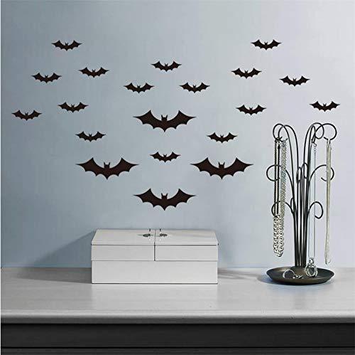 ural Créatif Noir Battant des Chauves-Souris S Pour Salon Halloween Décor De Fête DIY Animal Stickers DIY Murale Art ()