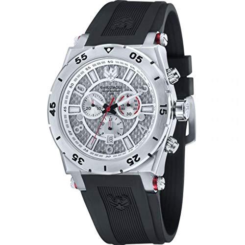 Swiss Eagle Reloj de Cuarzo Man Svitzer Negro 46 mm