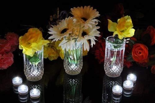 PK Green 10weiß Unterwasser LED Lichter Tauchpumpe Party Teelichter Wasserdicht Kerzen für Events -