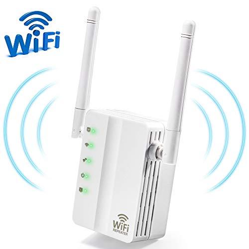 ZOTO WLAN Repeater, 300 Mbit/s Signal WLAN Verstaerker,2 Ethernet WAN/LAN WPS, Kompatibel Mit Allen WLAN Geräten WLAN Router - Tv-repeater